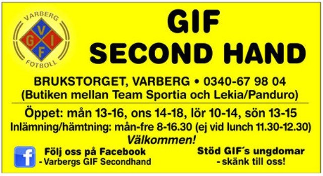 Gif second hand varberg